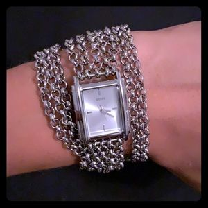 Adjustable Guess chain watch bracelet